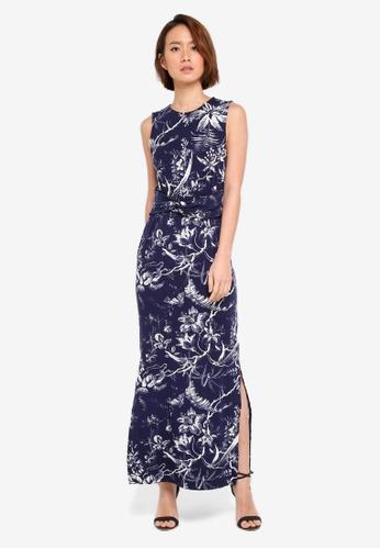 WAREHOUSE blue Monotropical Maxi Dress 90E43AA1416D46GS_1