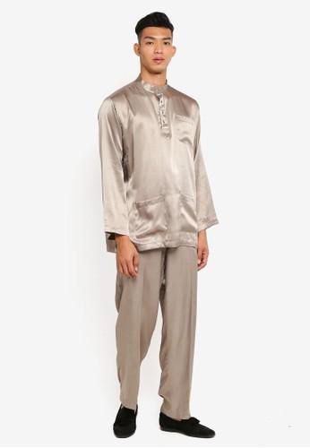 Gene Martino beige Traditional Baju Melayu 50874AA3F6C0FDGS_1