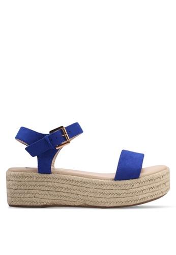 ZALORA blue Espadrille Flatform Sandals A9C39SH2750656GS_1