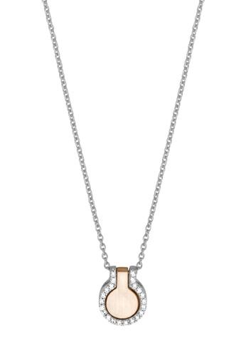 ESPRIT gold ESPRIT [Fuse] Two-Tone Silver & RoseGold Sterling Silver Necklace (42 cm + 3 cm extension) 38F52AC7537E85GS_1