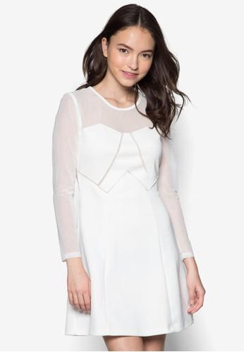 網zalora 心得 ptt紗拼袖洋裝, 服飾, 派對洋裝