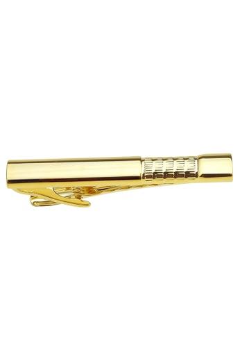 CUFF IT gold 53mm Check Pattern Gold Tie Clips CU047AC28GDZHK_1