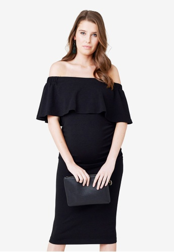 06911ce215b5 Ripe Maternity black Maternity Soiree Off Shoulder Dress 68B6AAA46999EAGS 1