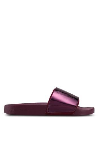 Ivy Park purple Metallic Slider 3C591SHC37E58FGS_1