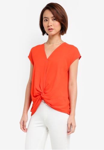 WAREHOUSE orange Stitch Detail Top 3291FAA3901158GS_1