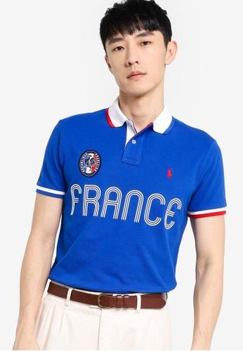 Polo Ralph Lauren blue Short Sleeve Knit Polo Shirt E9CCEAAA6252CEGS_1