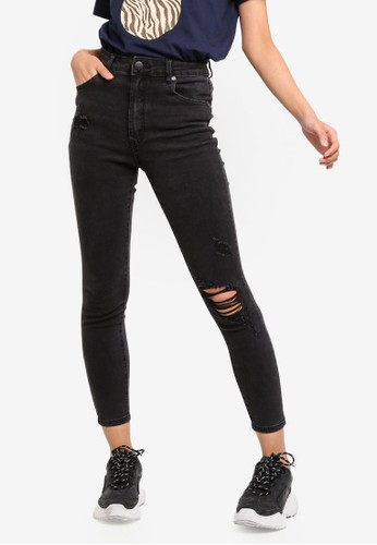 Cotton On black High Rise Grazer Skinny Jeans 23683AA8A422D8GS_1