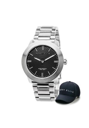 Perry Ellis silver Perry Ellis Slim Line Unisex 42mm Quartz Stainless Steel Watch 07001-02 with Perry Ellis Cap F2122AC8CB3C45GS_1