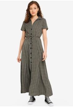 6533dcc102c5 Cotton On green and multi Woven Bernie Button Through Maxi Dress  38119AA274475CGS_1