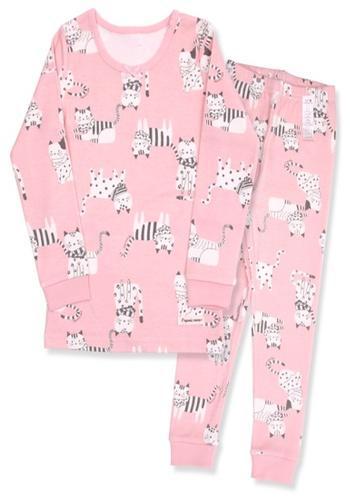 Organic mom pink Organic Girls Pink Homewear Pajamas ECBA7KAC132644GS_1