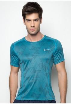 Nike Dri-Fit Miler Optical Run Short Sleeve Top