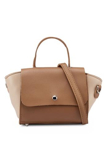 Berrybenka brown Seyn Catsep Satchel Bag 8EA24ACF3D585BGS_1
