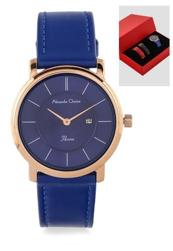 Alexandre Christie blue Alexandre Christie Jam Tangan Wanita - Blue Rosegold - Leather Strap - 2738 LDLRGBU 33066ACCA0F667GS_1