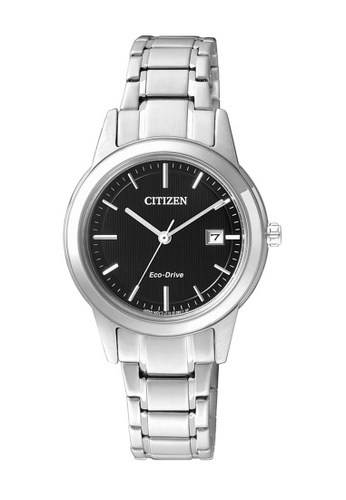 CITIZEN silver Citizen Eco-Drive Black and Silver Stainless Steel Watch D7A7BAC1B5C16BGS_1