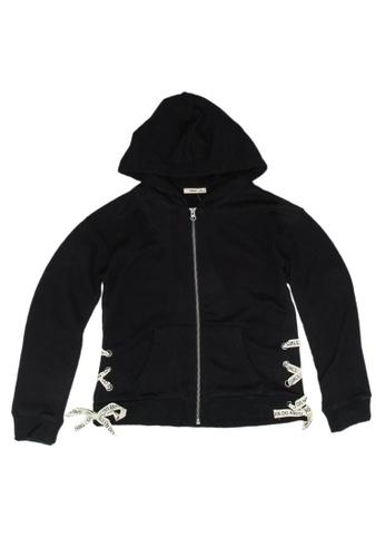 FOX Kids & Baby black Zip Up Hoodie 9B558KAE3A305BGS_1