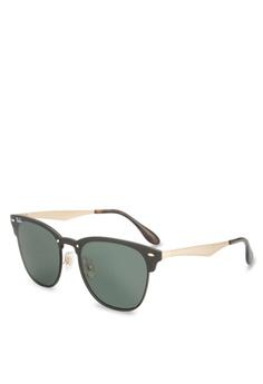 22c151b840984 Ray-Ban gold Blaze Clubmaster RB3576N Sunglasses RA896GL73GSGMY 1