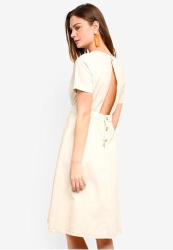 Haute Kelly beige Uk Button Up Dress 6B340AA68E5A3FGS_1