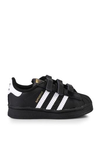 Adidas 黑色 superstar cf i sneakers B778BKS28BE29BGS_1