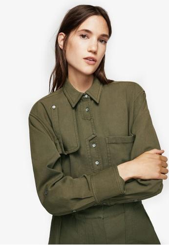 Mango green Military Shirt MA193AA0RQX0MY_1