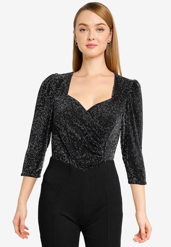 Miss Selfridge multi Silver Sweetheart Wrap Bodysuit 0C4D5AAFF327AEGS_1
