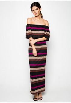 Cassie Off Shoulder Long Dress