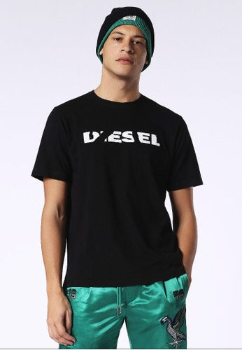 Diesel black T-Just-Sl Short Sleeve Tshirt With Print 8F6D9AAE1E6F38GS_1