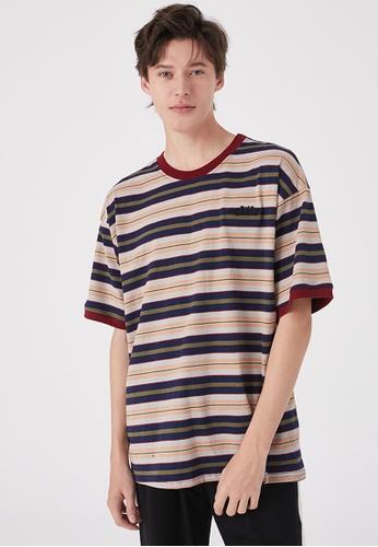 Twenty Eight Shoes Oversize Contrast Stripe T-shirt HH0185 D6524AA90715B5GS_1