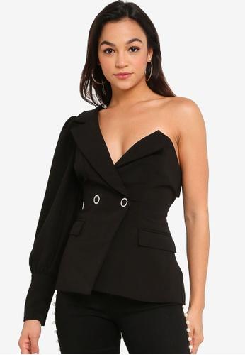 Lavish Alice black Puff Sleeve Blazer 97BCEAA14F8103GS_1