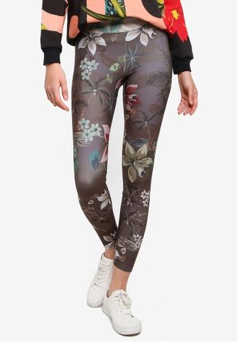 Desigual green Floral Printed Leggings 4FE69AA1359458GS_1