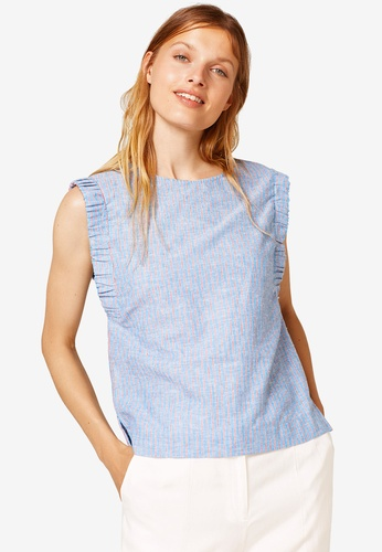 ESPRIT blue Woven Sleeveless Blouse EB8A7AAC5A33A3GS_1