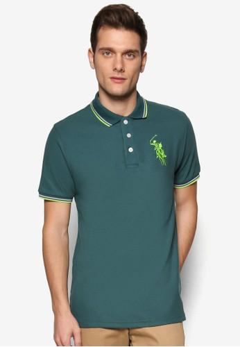BGM 撞色條紋POLO 衫, 服飾,京站 esprit Polo衫