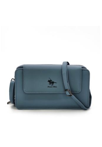 POLO HILL blue POLO HILL Ladies Multi Purpose Smartphone Purse Wallet Sling Bag 3AD69AC4F58578GS_1