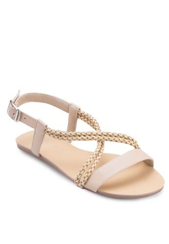Irene 辮子zalora 手錶繞踝涼鞋, 女鞋, 涼鞋