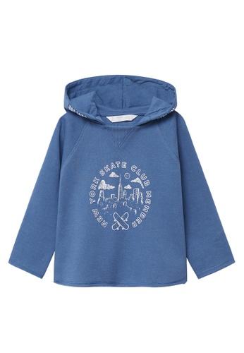 MANGO BABY blue Printed Organic Cotton Sweatshirt B4C27KA5D42980GS_1