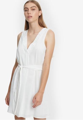 REUX white Riki Mini Dress EC5ECAA984C16EGS_1