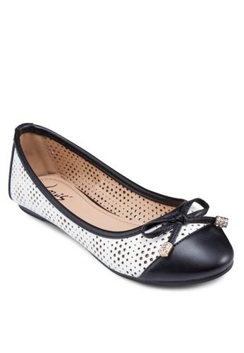 蝴蝶結撞色網眼平底鞋, 女鞋esprit 台灣, 芭蕾平底鞋