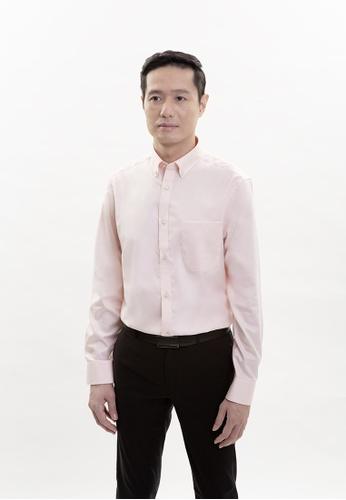 Goldlion pink Goldlion Nanotech Wrinkle Free Long-Sleeved Shirt 53CFAAAF07761DGS_1