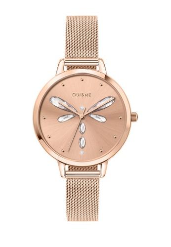 Oui & Me gold OUI&ME Amourette Quartz Watch Rose Gold Metal Band Strap ME010138 C4DECACBB6172FGS_1