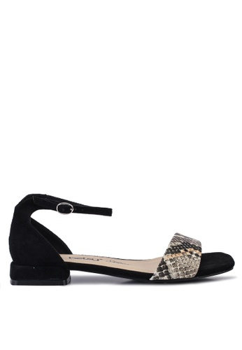 BETSY 黑色 Audrey Animal print Sandals 3D5DESH4B2AA10GS_1