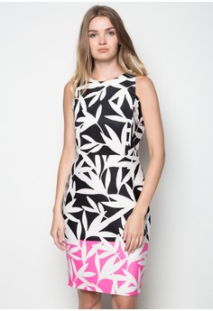 Sleeveless Printed Straight-Cut Dress