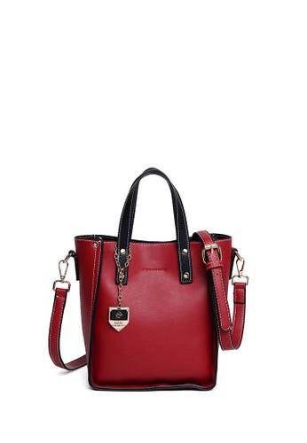 Scada red Sturdy Handbag - Red  2D9B7AC125418DGS_1