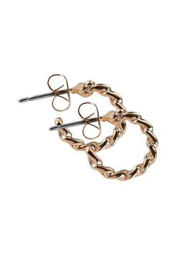 Pieces gold Dinora Hoop Earrings 966B0ACD008C5DGS_1