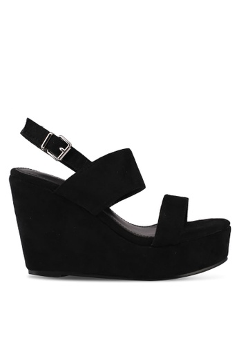 Something Borrowed black Double Strap Wedges 830ACSH408CED9GS_1