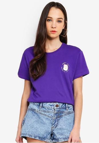 Cotton On purple Tbar Fox Graphic T shirt B401EAACECC51AGS_1