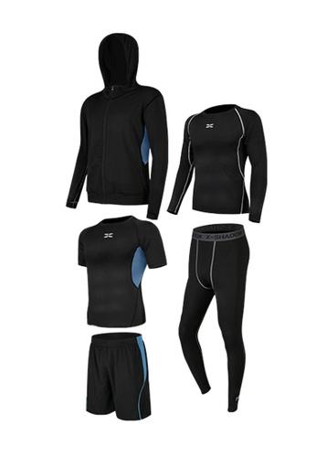 Sunnydaysweety blue Sweat-Wick Tops, Tights, Shorts and Jacket Set  A081025BL 56976AA52F1FA8GS_1