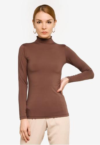 Gene Martino brown Long Sleeve Inner Wear FD54BAAFA399FAGS_1