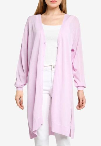 LOWRYS FARM pink Knitted Long Cardigan 2EC76AAE931204GS_1