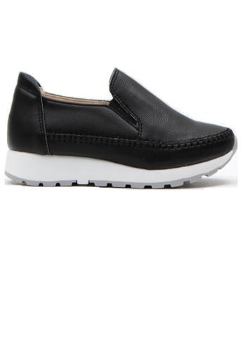 Crystal Korea Fashion 黑色 韓國製百搭舒適內增高輕便鞋 A9C20SHC610719GS_1