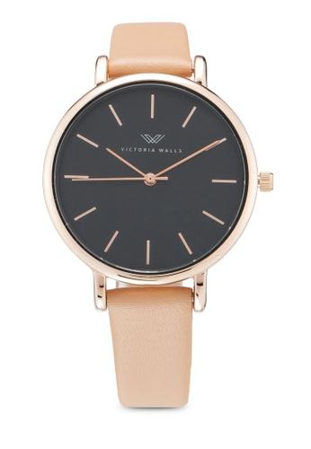 Victoria Walls Watches brown Designer Watch-Elegant Leather Strap 40D29AC64BCDE2GS_1
