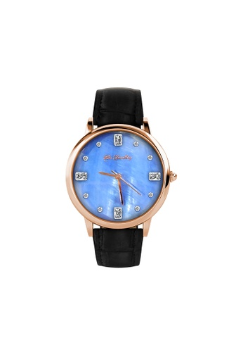 Her Jewellery Alanzo Crystal Watch (Black Rose Gold)  - Embellished with Crystals from Swarovski® 57E9CAC51828E6GS_1